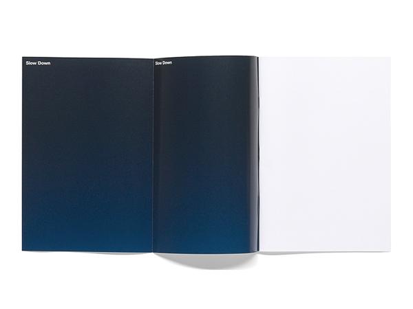 Publicatie Slow/Down, MK Gallery, 2003, 16,5 x 23,5 cm. 90 grams, Anda, wit.