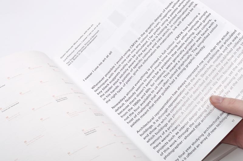 I swear I use no art at all, Joost Grootens, Uitgeverij 010, 2010<br /> Ontwerp: Studio Joost Grootens / Joost Grootens met Tine van Wel, Jim Biekmann, Manuel Di Tolve, Christiaan Drost, Adam Farlie, Barbara Hoffmann, Margriet Hogenbirk, Arthur Roeloffzen, Darja Spanily, Manuel Wesely. Drukwerk: Lecturis. ISBN 978-90-6450-719-9