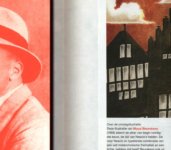 Stofomslag uit de serie 175 jaar Nijgh & Van Ditmar