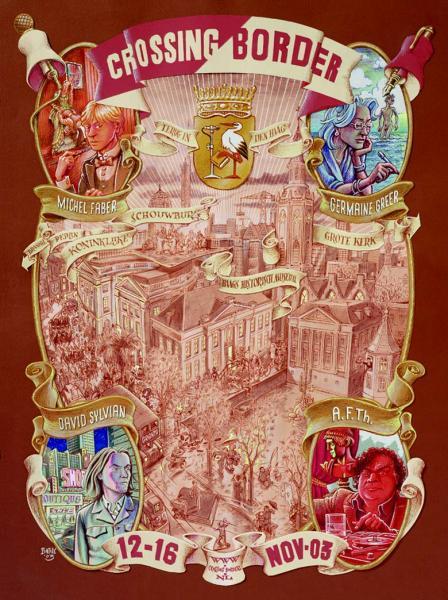 Peter Pontiac, illustratie gemaakt met verschillende soorten uitgeknipte papiertjes