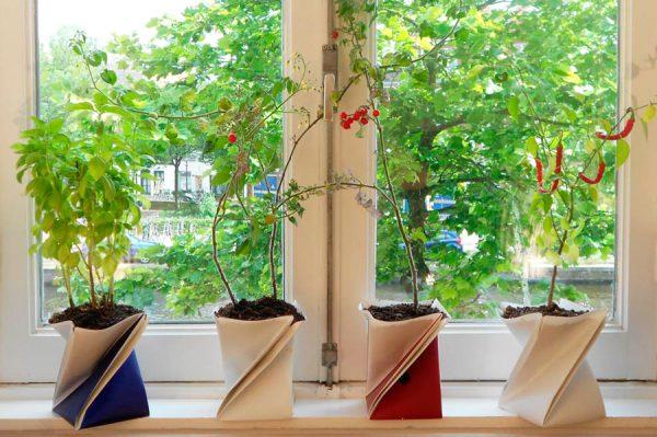 origami-bloempot