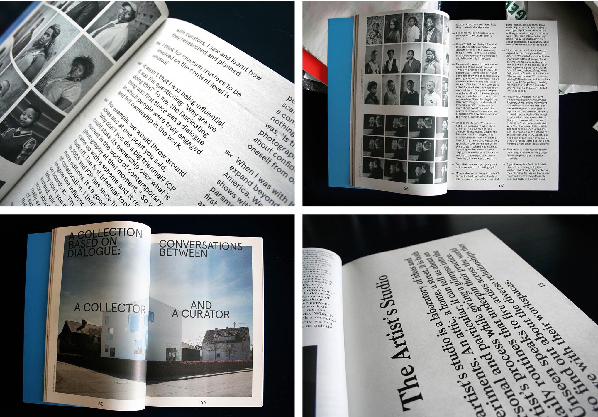 Unseen Magazine issue 1, toen nog gedrukt op krantenpapier, 2015. Een interview met Isabelle Vaverka