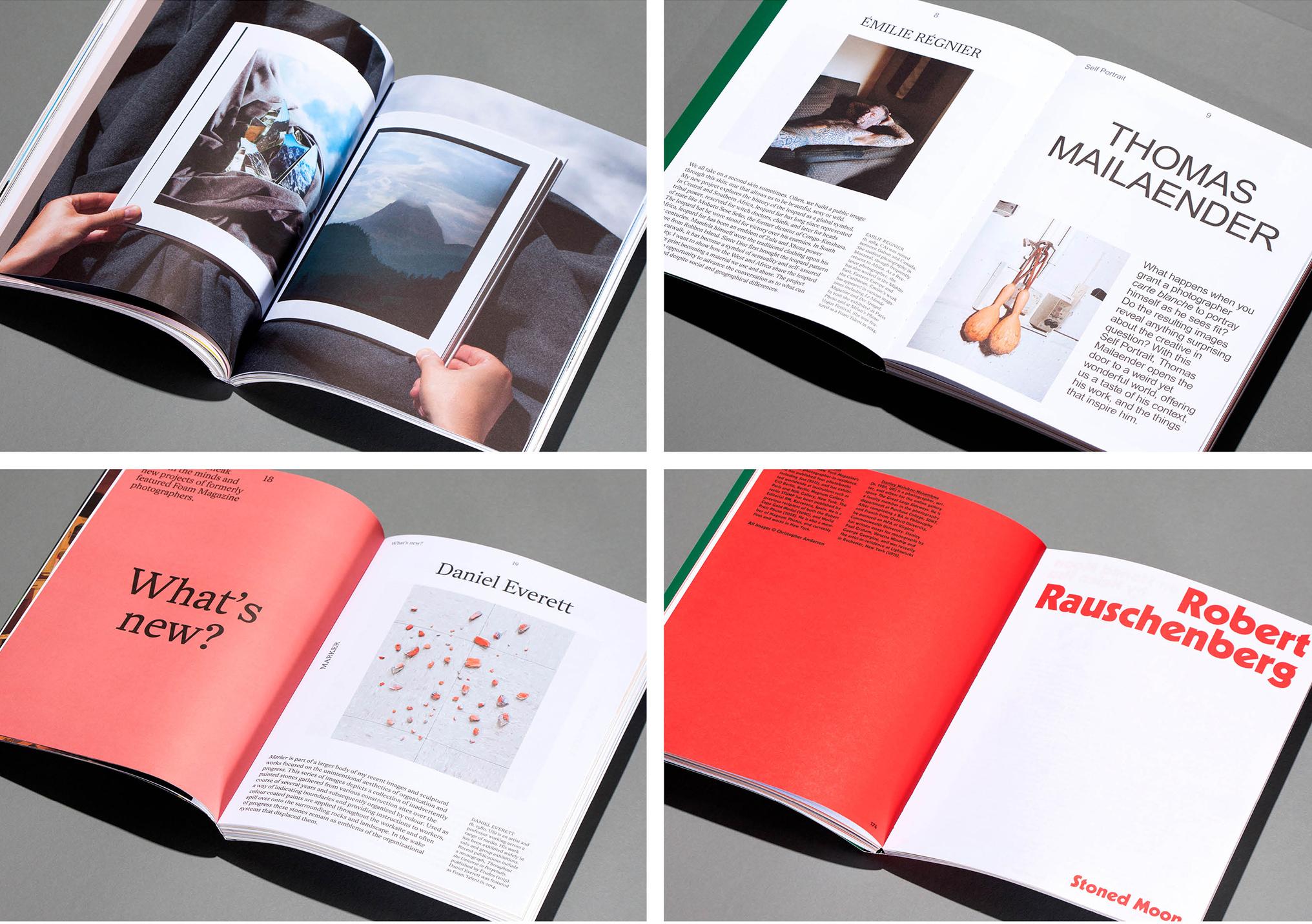 Spreads van het Foam Magazine, verschillende issues uit 2016 en 2017. Een Interview met Isabelle Vaverka