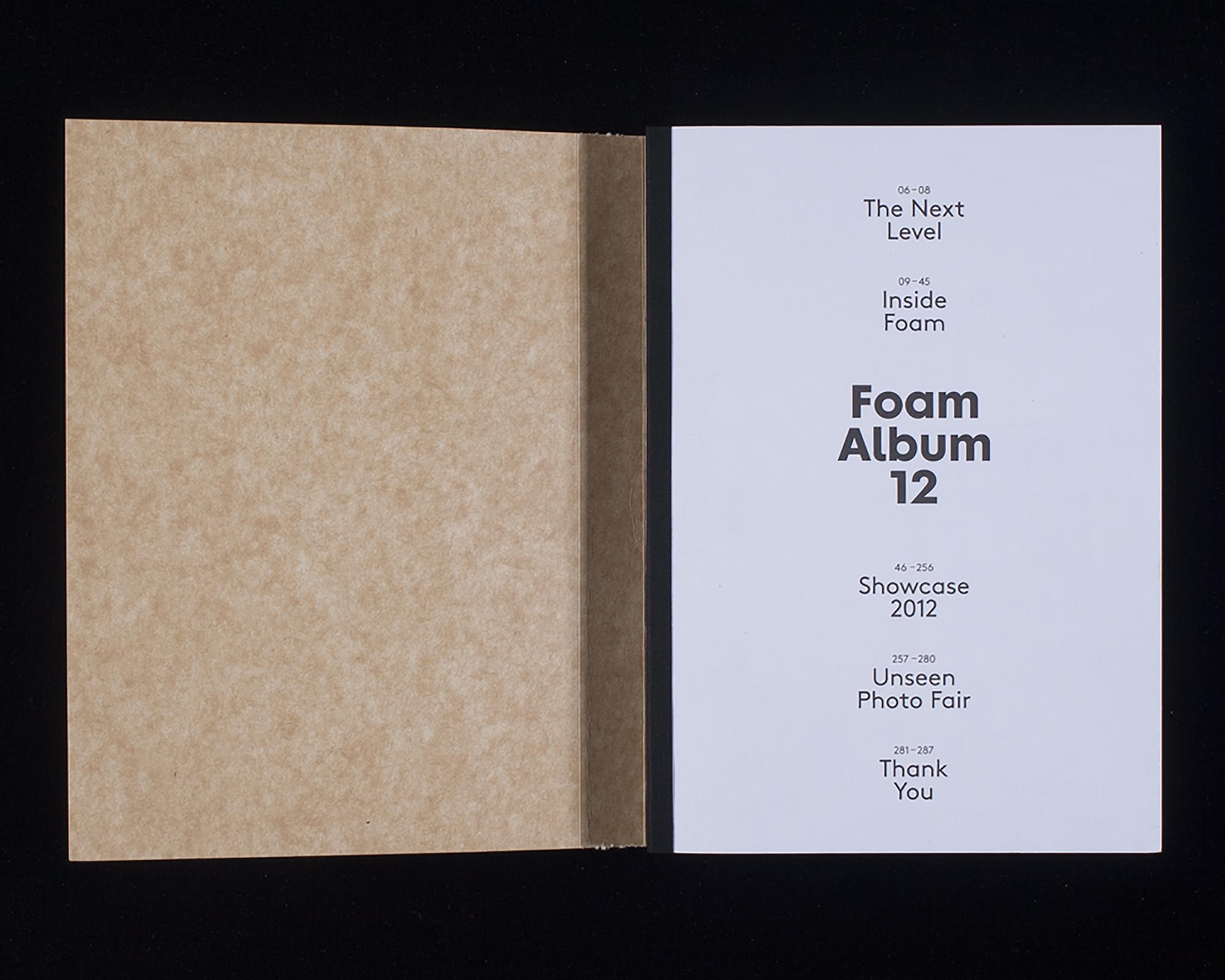 Het boek Foam Album 12 | Papier cover: Starline Kraftback , ontwerp door Ruben Doornweerd