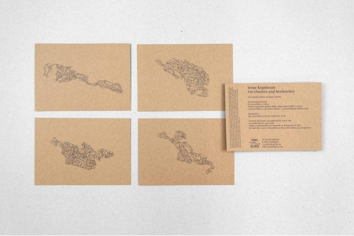 Uitnodigingskaart Irene Kopelman. Papier: Muskat Brown. Ontwerp door Ayumi Higuchi en Roger Willems