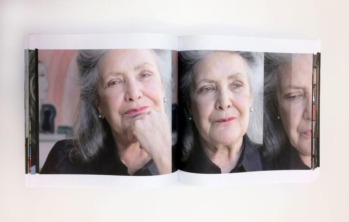 Spread uit het boek 'Levenswerk II' van Margriet Luyten. De Monsterkamer interview Herlof Schurmann over papier.