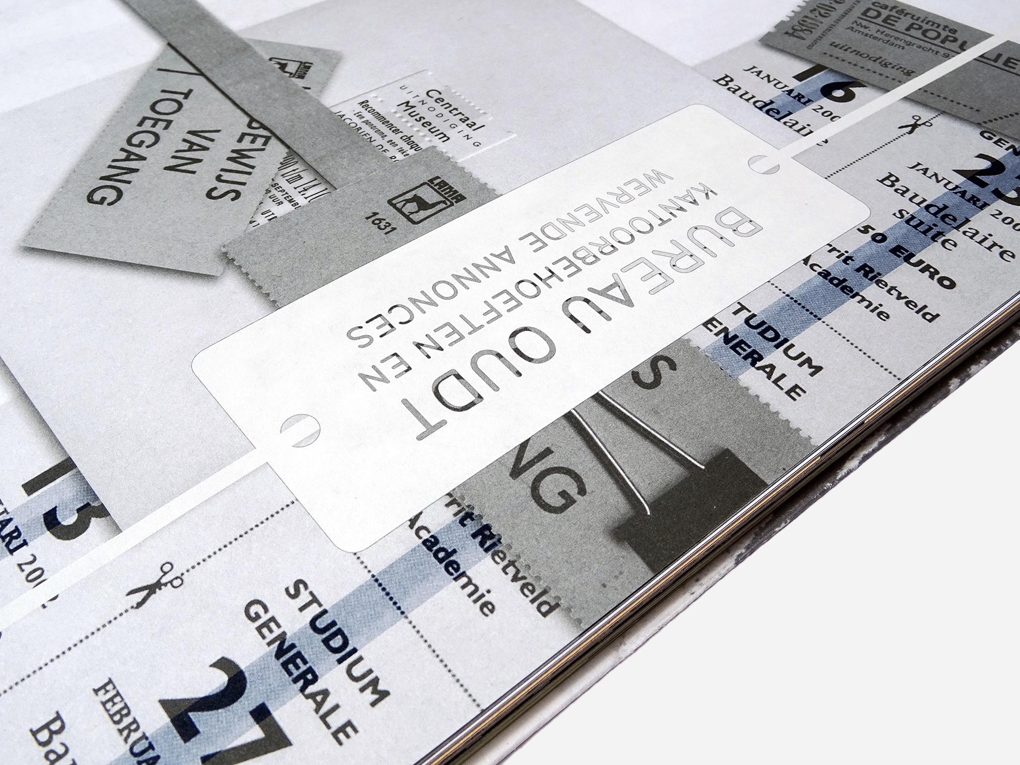 Detail uit het boek, 'Op basis van Bas Oudt'. ontworpen door Jozee Brouwer. De Monsterkamer Interview