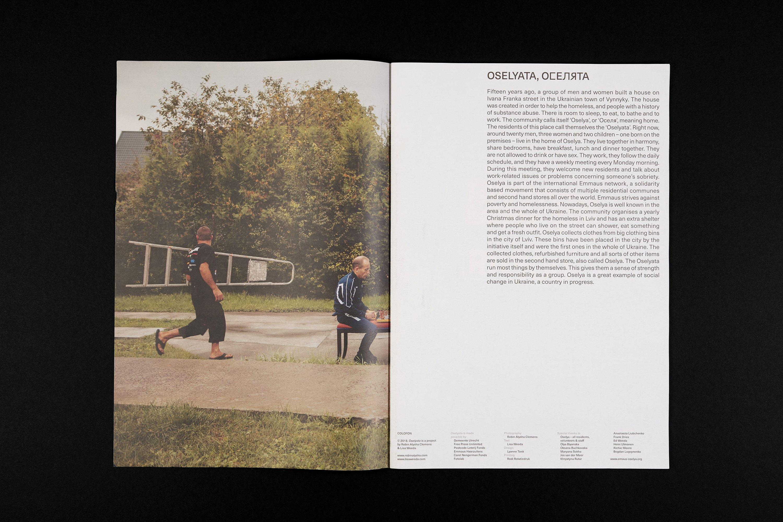 Een spread uit het boek Oselyata, een project van Robin Alysha Clemens en Lisa Weeda.