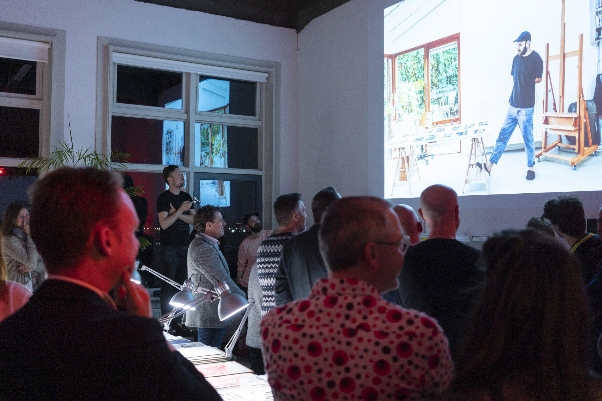 Presentatie kerstborrel de Monsterkamer met DIABP en de Fotograaf des Vaderlands