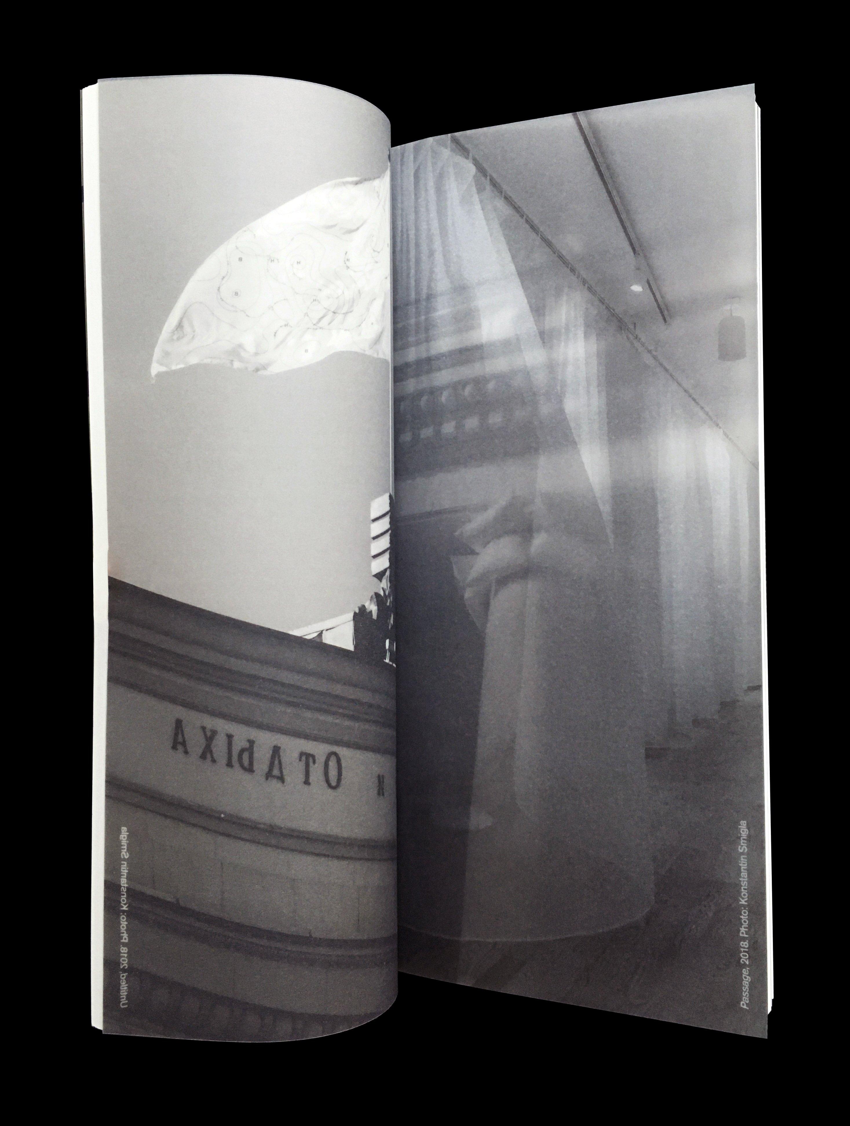 Twee pagina's uit het boek 'The weather in Moscow Looks Good' door Marinus Boezem. De Monsterkamer - Een interview met Tariq Heijboer