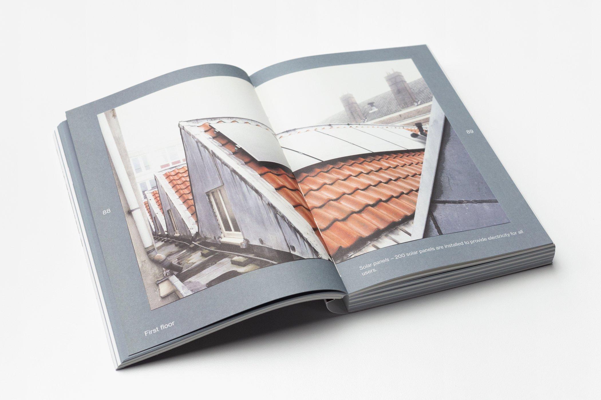 Twee pagina's uit het boek Architecture of Appropriation. On Squatting as spatial practice. Maud Vervenne