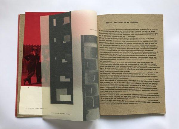 Twee pagina's uit een boek van Sandberg