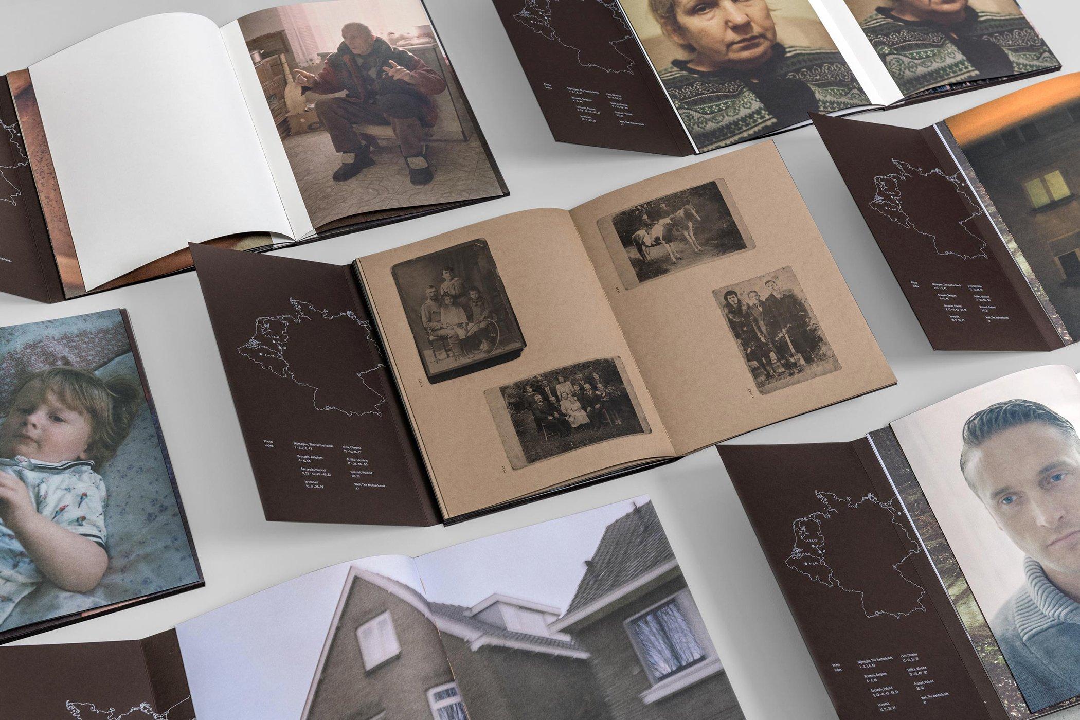 Overzicht verschillende spreads uit odslonic Studio Another Day over Papier