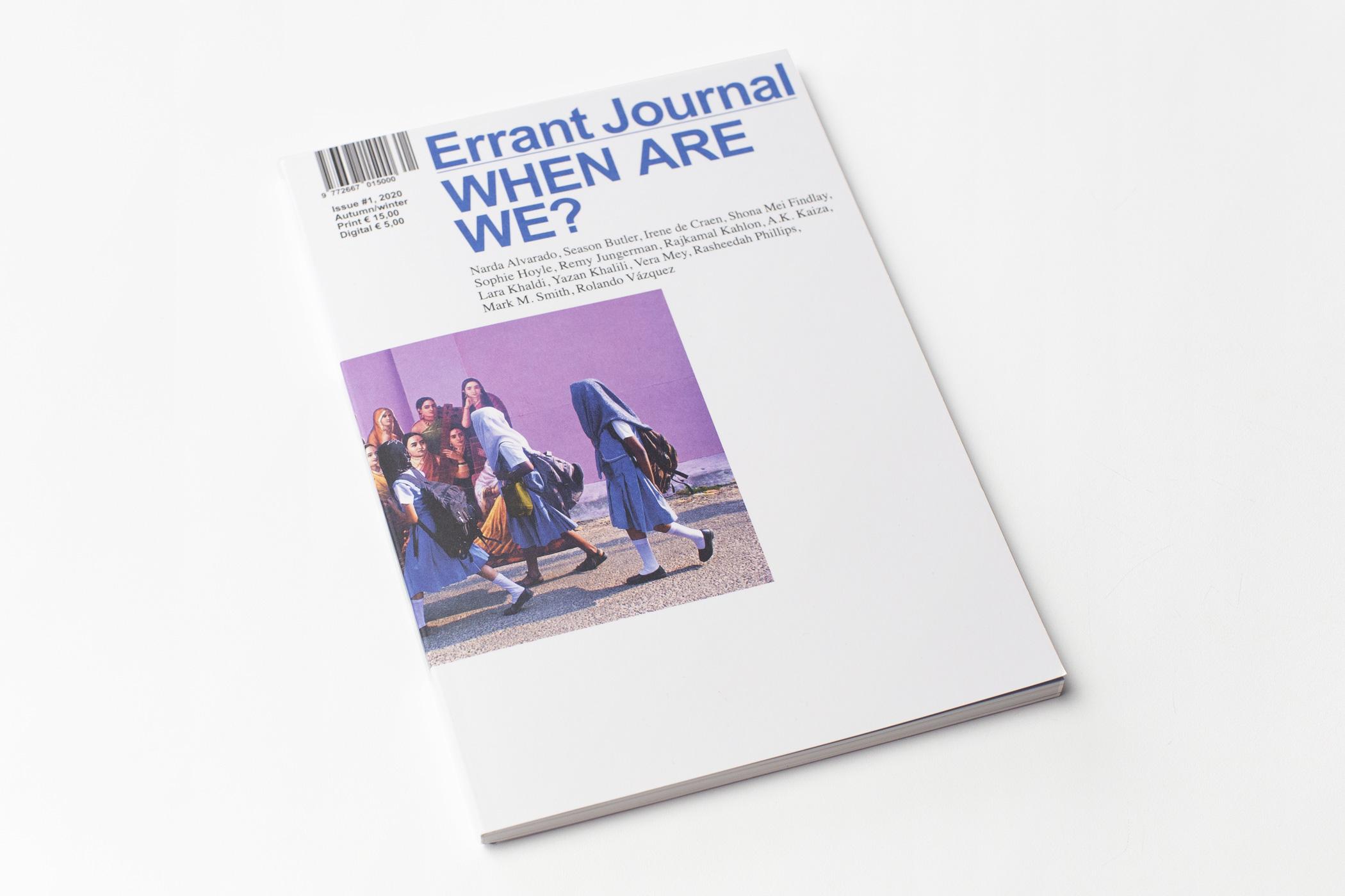 Vormgever Jan Pieter Karper kwam naar De Monsterkamer om papier uit te zoeken voor het Errant Journal, When Are We.