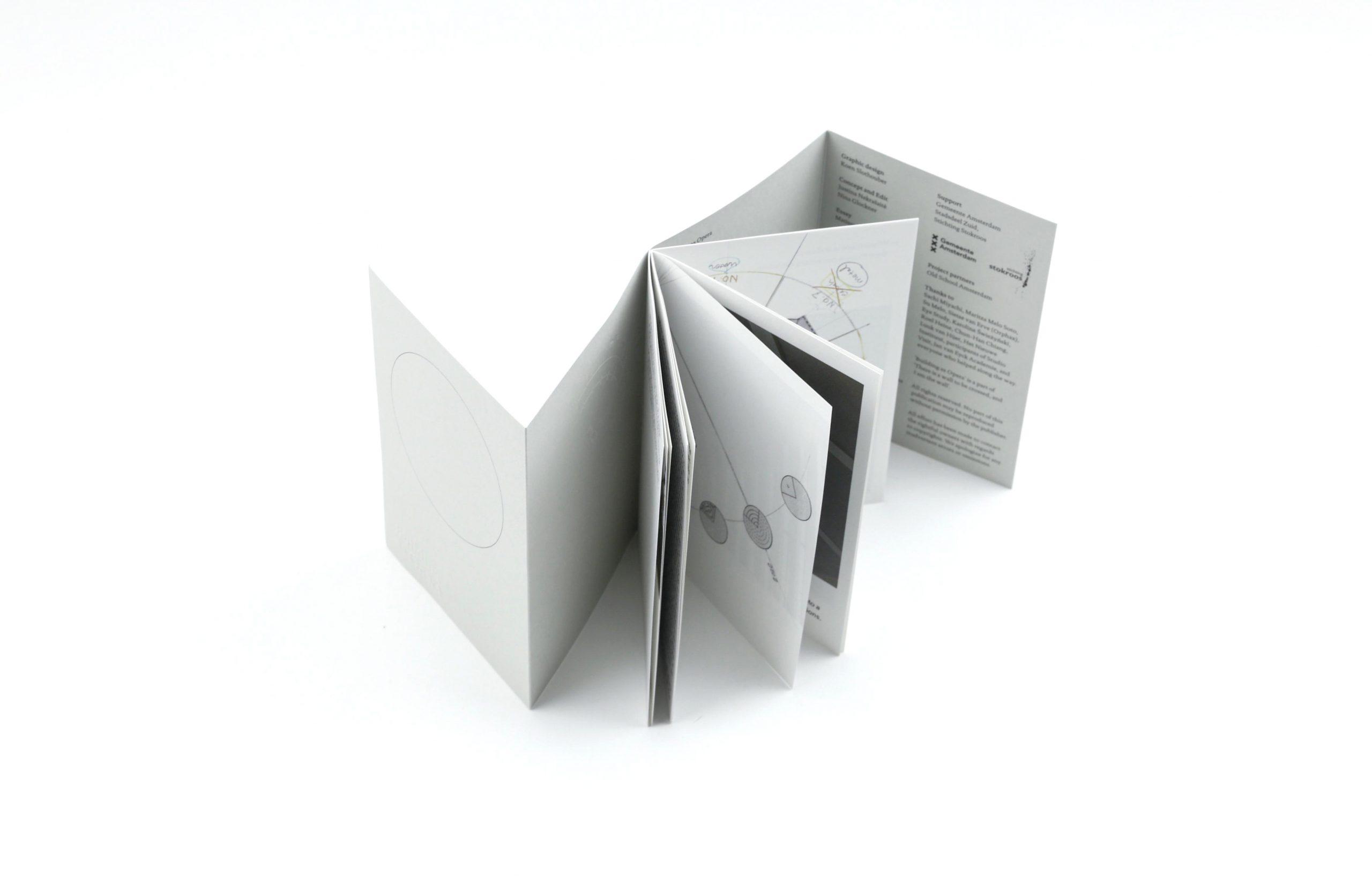 Ontwerper Koen Slothouber kwam naar de Monsterkamer om papier te zoeken voor de publicatie Building as Opera.