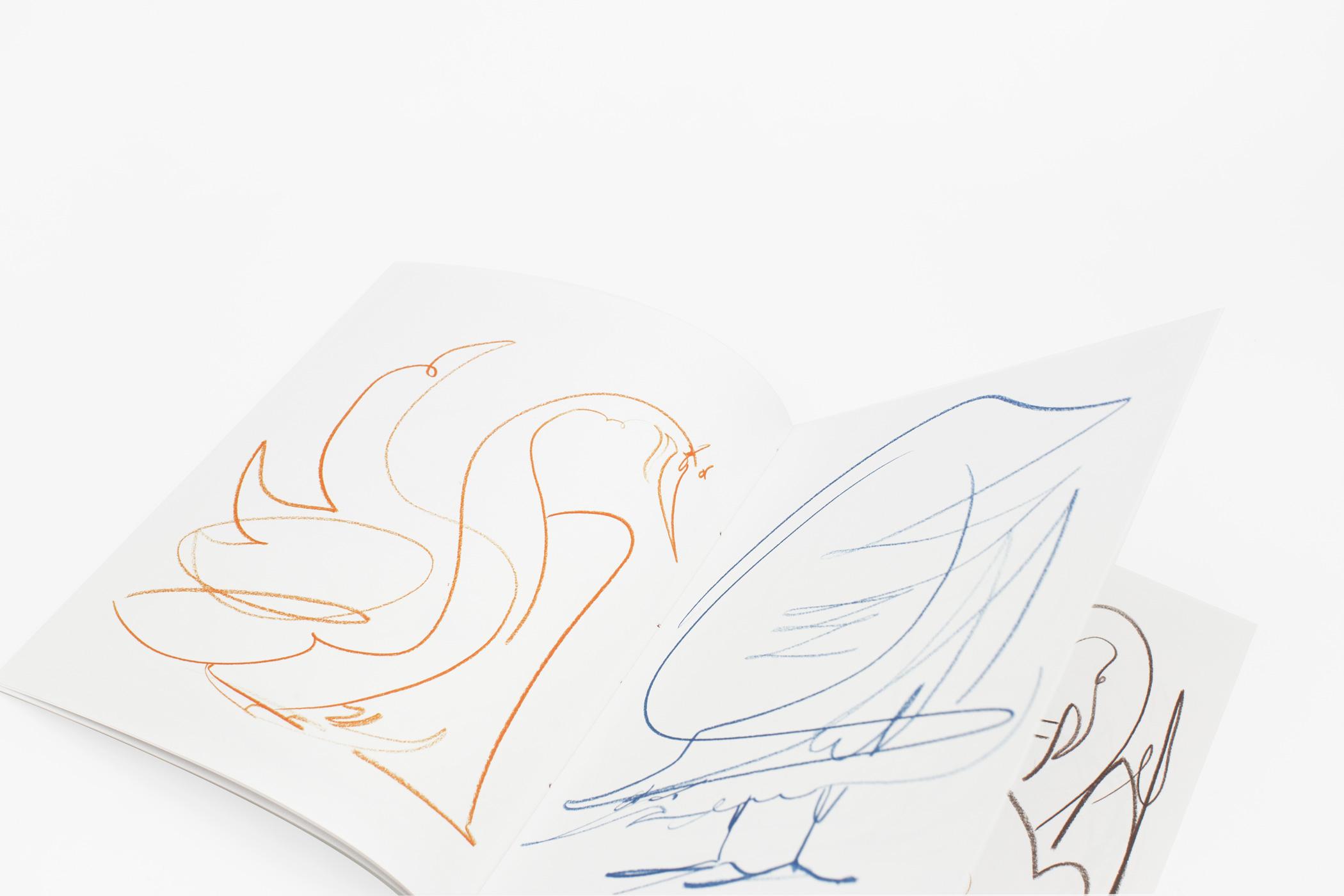 Joost Krijnen kwam naar de Monsterkamer om papier uit te zoeken voor het boek 33 Vogels. 33 Vogels toont een verzameling vogeltekeningen.