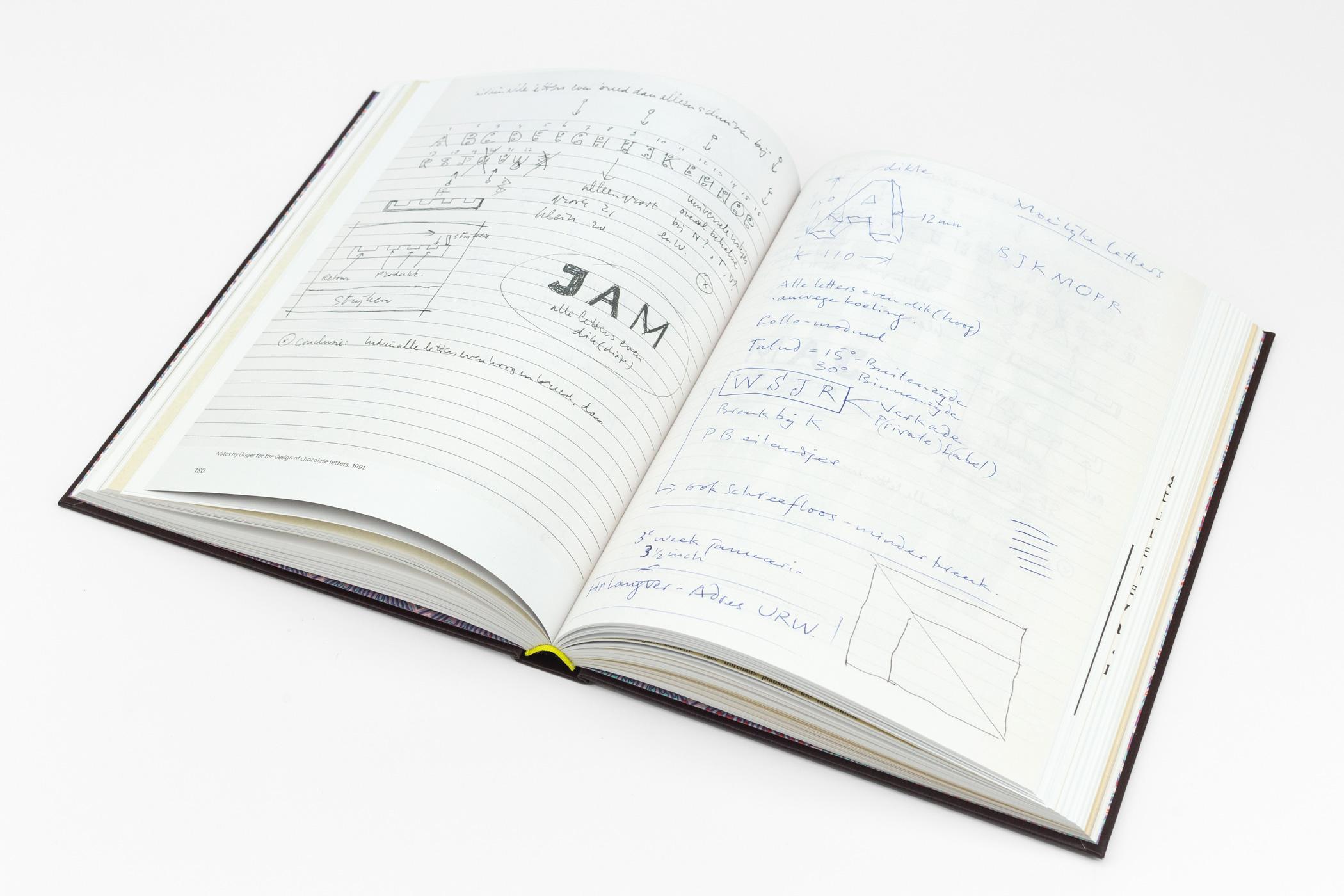Hansje van Halem kwam naar de Monsterkamer om papier uit te zoeken voor het boekGerard Unger: Life in letters.