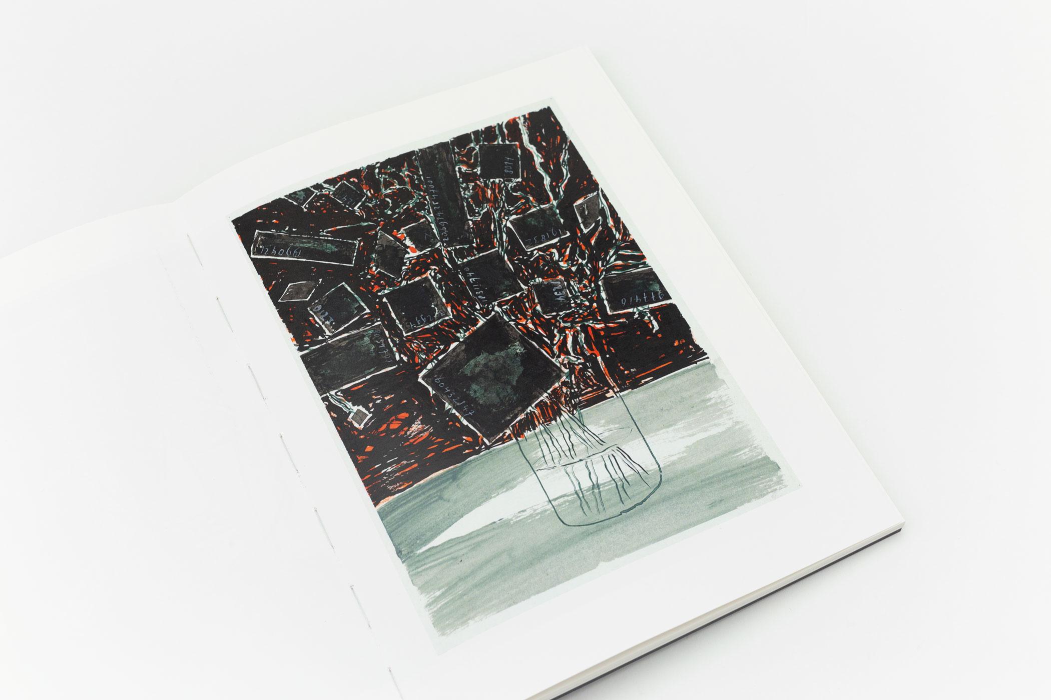 Paul Koeleman kwam naar de Monsterkamer om papier en een covermateriaal uit te zoeken voor het boek Raoul Chailloux 2020 - tekeningen.