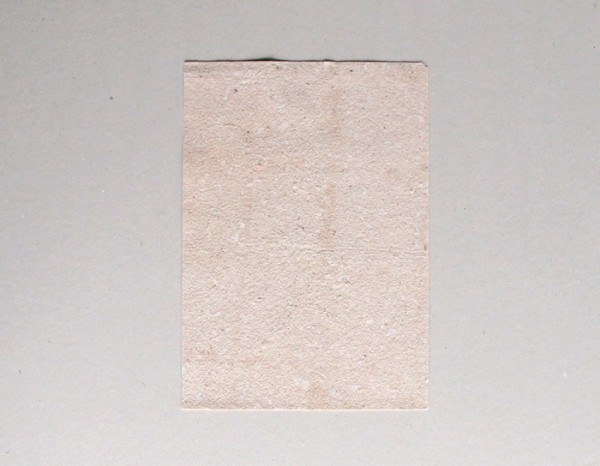 one sheet of sawdust paper, handmade by the artists with the remnants of the tree's wood